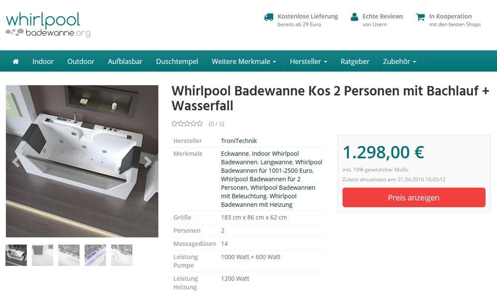 Whirlpool-badewanne.org Kos Bewertung