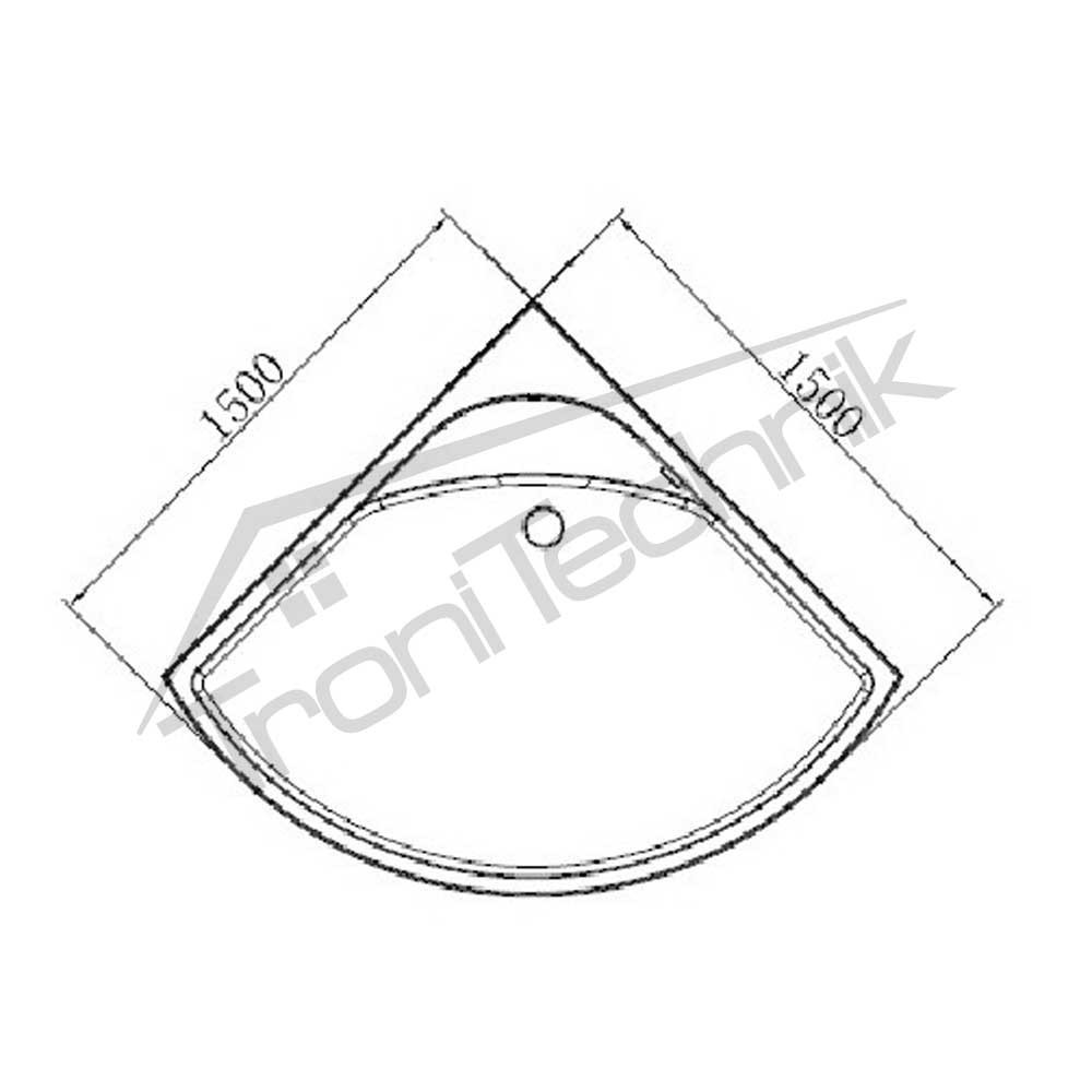 tronitechnik whirlpool samos 150cm x 150cm ohne. Black Bedroom Furniture Sets. Home Design Ideas