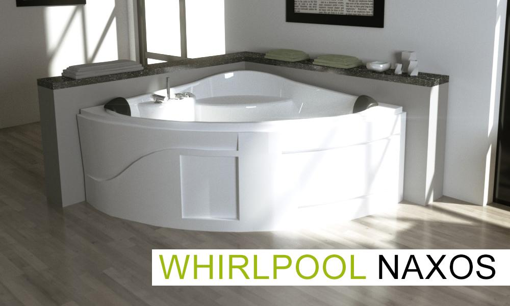 Whirlpool Badewanne NAXOS